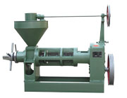 screw press in the small sunflower oil pressing line
